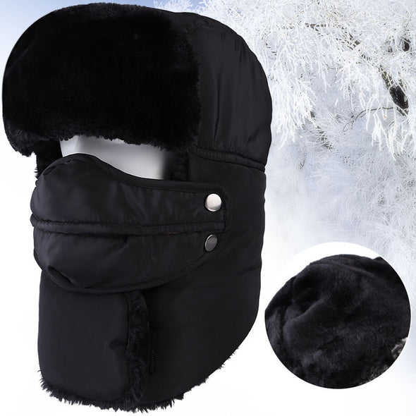 Men's Women's Ski Hat Trapper Hat with Mask and Neck Warmer