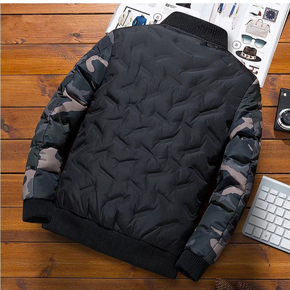 New Men Fashion Patchwork Thick Down Jacket