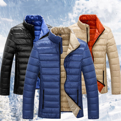 Men's Down Jacket Winter Outerwear Stand Collar