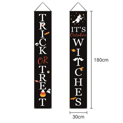 Hot selling Halloween couplets Hanging flag banner