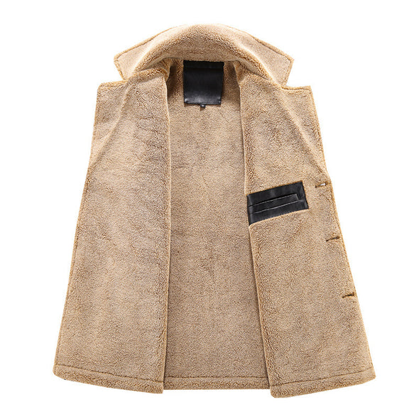 New Men Fashion Casual Thick Windproof Coat