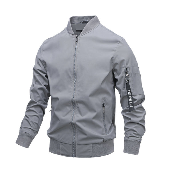 Fashion Men's Casual Jacket Pure Color Korean Style Trendy Jacket