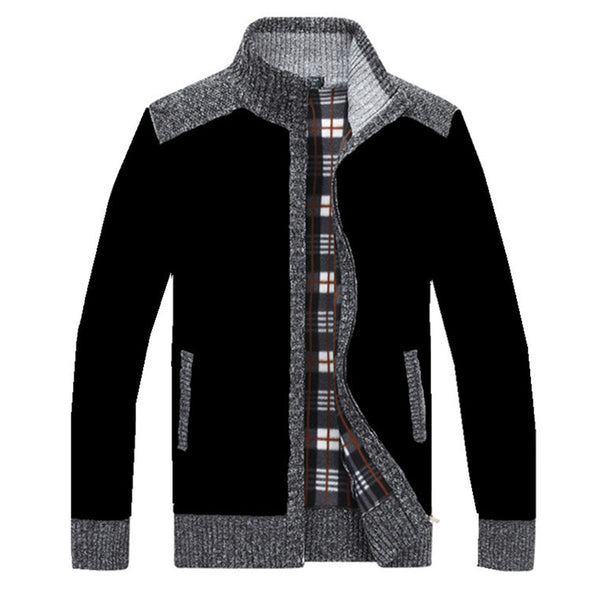 New Men's Sweater Cardigan Jacket Stand Collar
