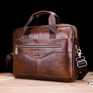Men's Leather Business Work Bag