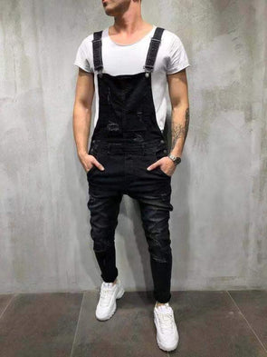 Men's Slim Overalls Hot Sale Solid Color Trousers