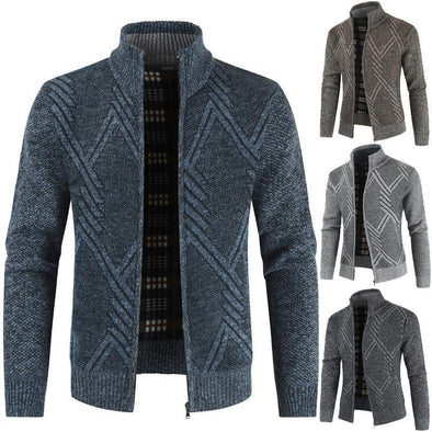 Men's Knit Jackets Casual Cardigan Sweater Jacket