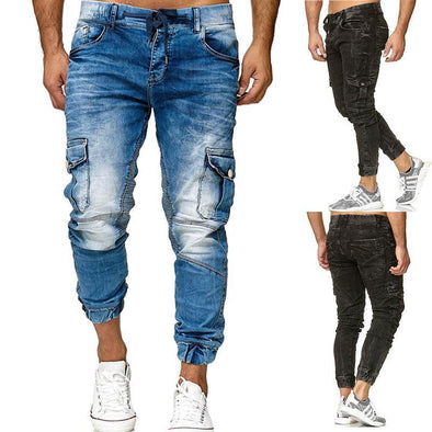 Casual Drawstring Jeans for Men