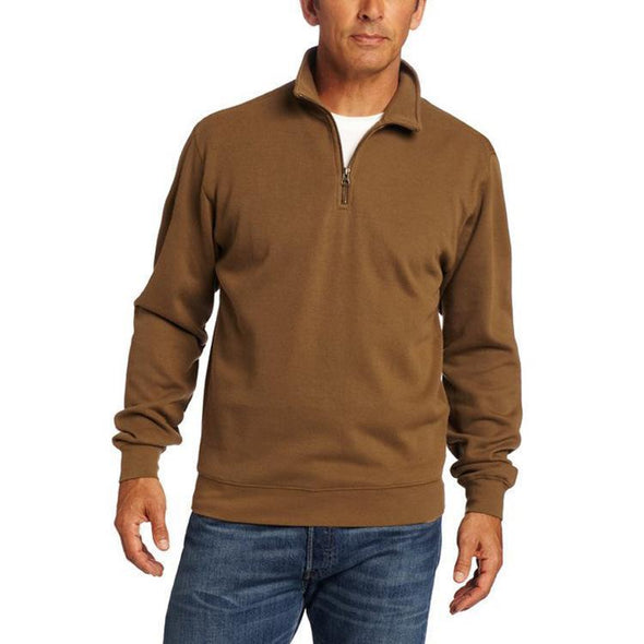 Men's Solid Color Stand-up Long Sleeves Sweatshirt