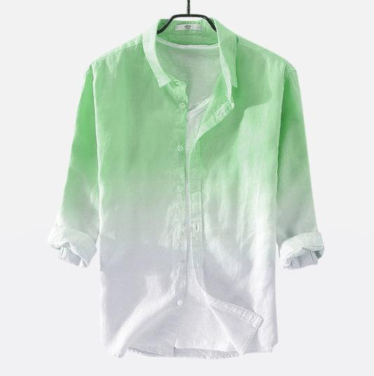 Manswear Gradient Color Summer Collar Casual Shirt