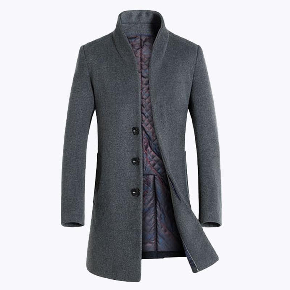 Men's Business Top Wool Trench Coat