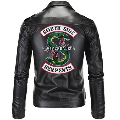 Fashion Motocycle Slim Fit Leather Jacket for Men