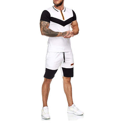 Men's T-shirt Set Outdoor Breathable Sports Shorts