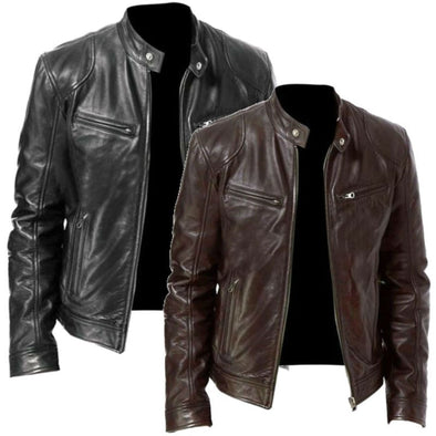 High Quality Windshield Men Leather Jacket