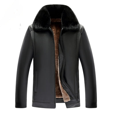 Autumn Winter Men Leather Jacket Coat