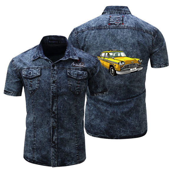 Men's Plus Size Unique Style Denim Jacket