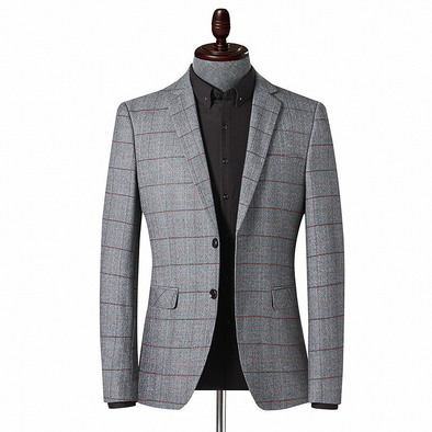 Business Casual Suit New Lattice Youth