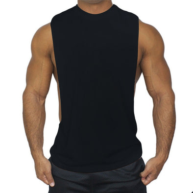 Men's Gyms Fitness Sleeveless Shirt Cotton Tank Tops