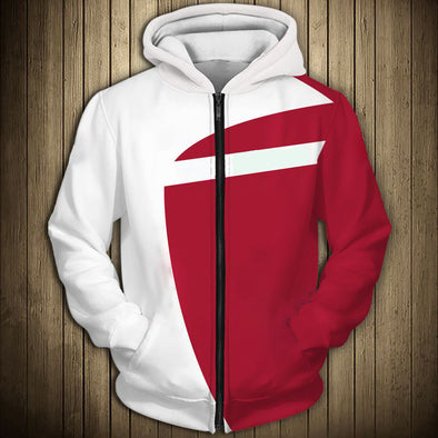 New Men Fashion Casual Zipper Hooded Sweatshirt