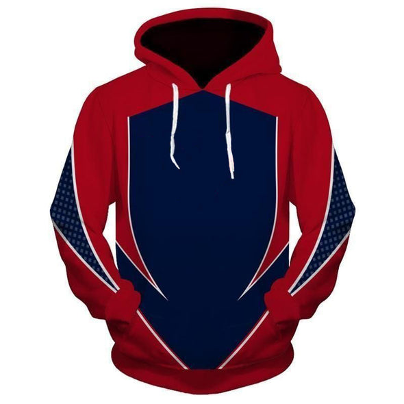 New Men Fashion Casual Print Hooded Sweatshirt