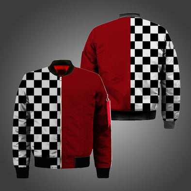 New Men Block Color Fashion  Bomber Jacket