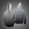 New Men 3D Gradient Color Zipper Hoodies