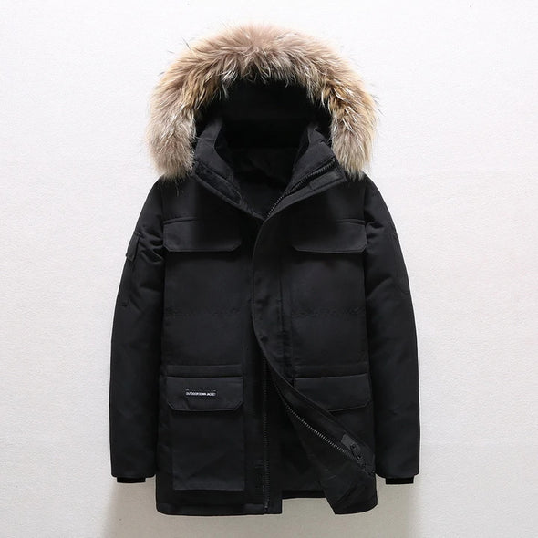 White Duck Down Jacket For Men And Women In Winter