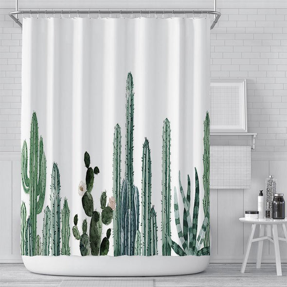 Shower Curtains Polyester Waterproof Bathroom Curtain