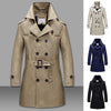 Men's Wrinkle Resistant Business Casual Long Coat