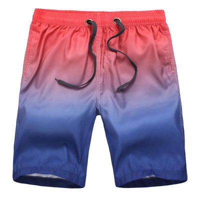 Men's Quick Dry Gradient Beach Shorts