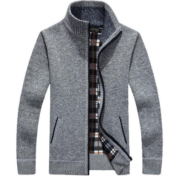 Men's Fleece Stand Collar Sweater