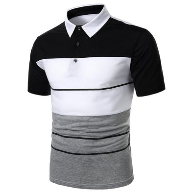 Summer men's tops fashion stitching casual short sleeves