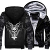 Men New Fashion Patchwork Camouflage Print Fleece Hoodies