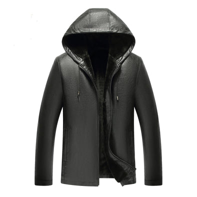 Winter Men Leather Jacket Coat