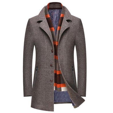 Winter Men's Casual Wool Trench Coat