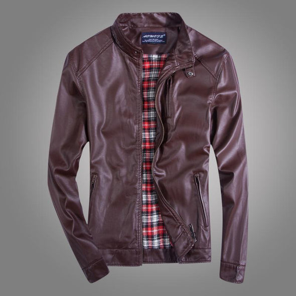 Casual Slim Leather Jacket