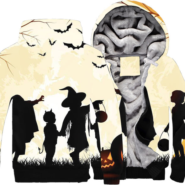 Halloween Autumn and Winter Men's cotton zipper hooded Long sleeves