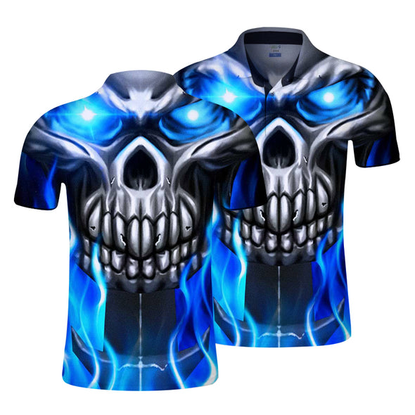 Short Sleeves Summer Fashion Casual Skull T-Shirt