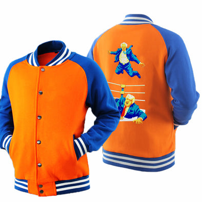 Men trump print popular baseball jacket color matching collar Uniform Coat