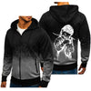 Men's High Quality Gradient Color Zipper Hoodies