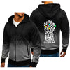 Men's Gradient Color Zipper Hoodies