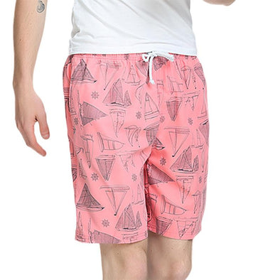 Men Printed Quick Dry Swim Trunks Beach Shorts