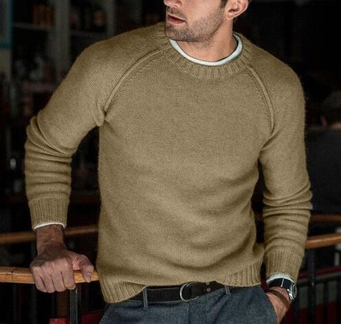 Men Warm O-neck Autumn Winter Casual Pullovers Sweater
