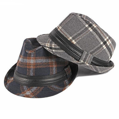 Men's British Style Retro Gentlemen Hats Woolen Jazz Hats