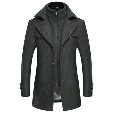 Men's Slim Casual Wooled Jacket