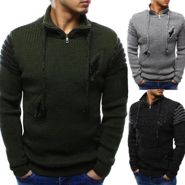 Pullover Jumpers Sweater Ripped Knitted