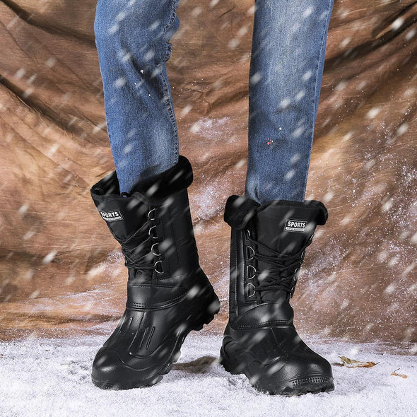 Winter Camouflage Snow Men Boots Rain Shoes Waterproof