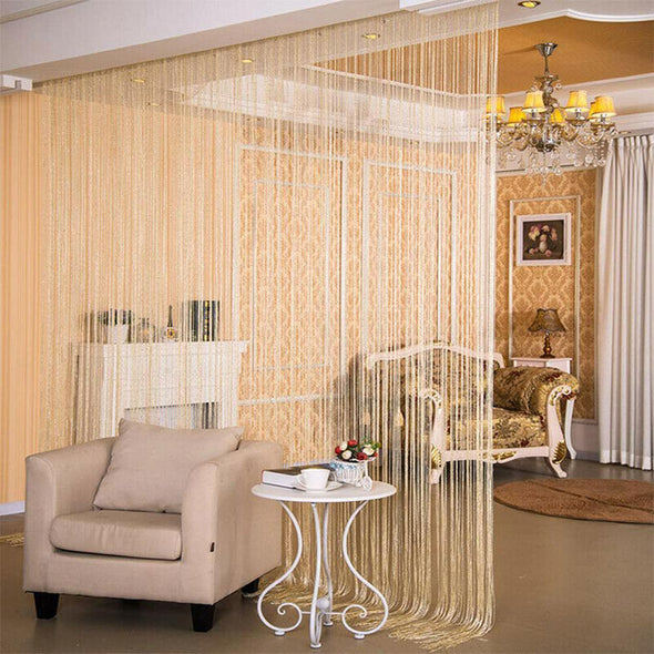 Curtains Thread String Curtain Door Tassel Bead Sheer Drape panel For Window