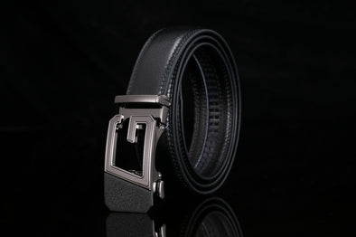 Men's Genuine Leather Automatic Buckle Belt-2