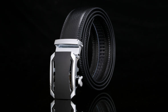 Men's Genuine Leather Automatic Buckle Belt-7