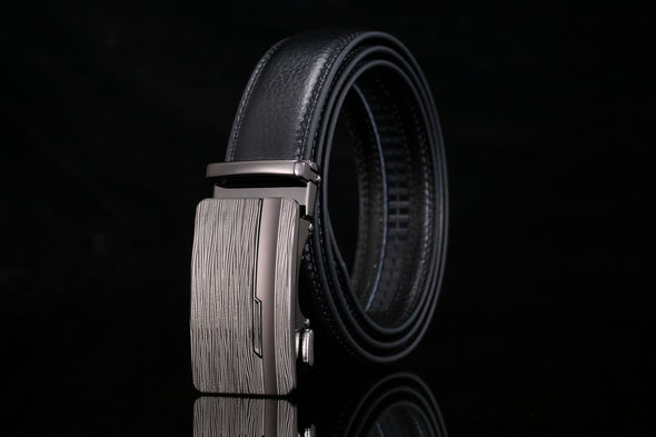 Men's Genuine Leather Automatic Buckle Belt-5